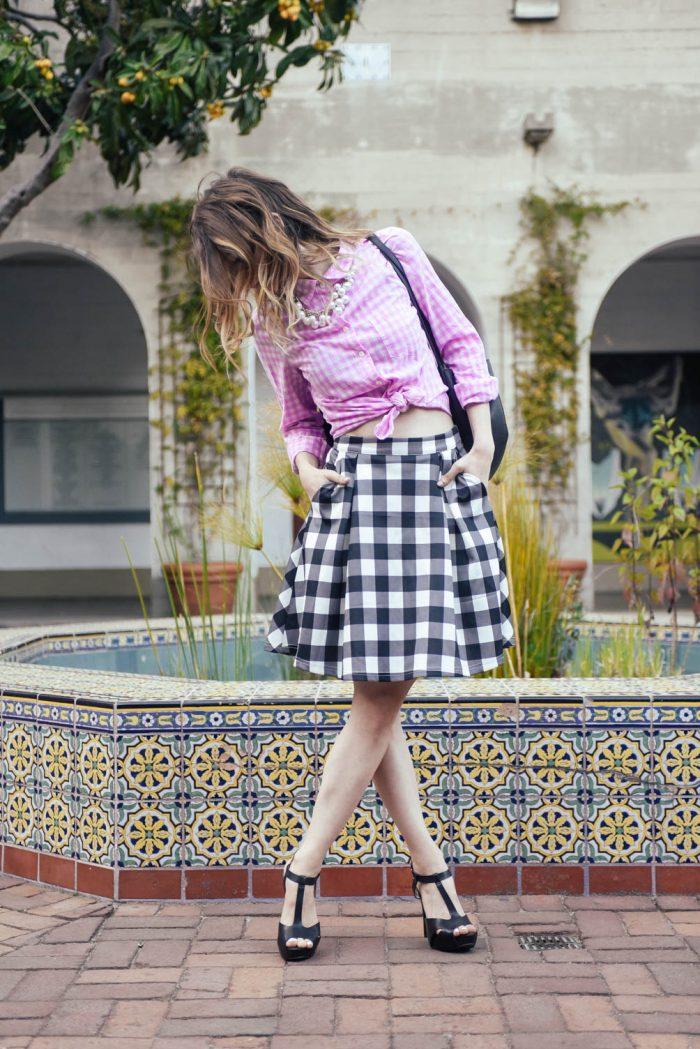 Gingham-Scuba-Skirt-Mix-Pattern-1