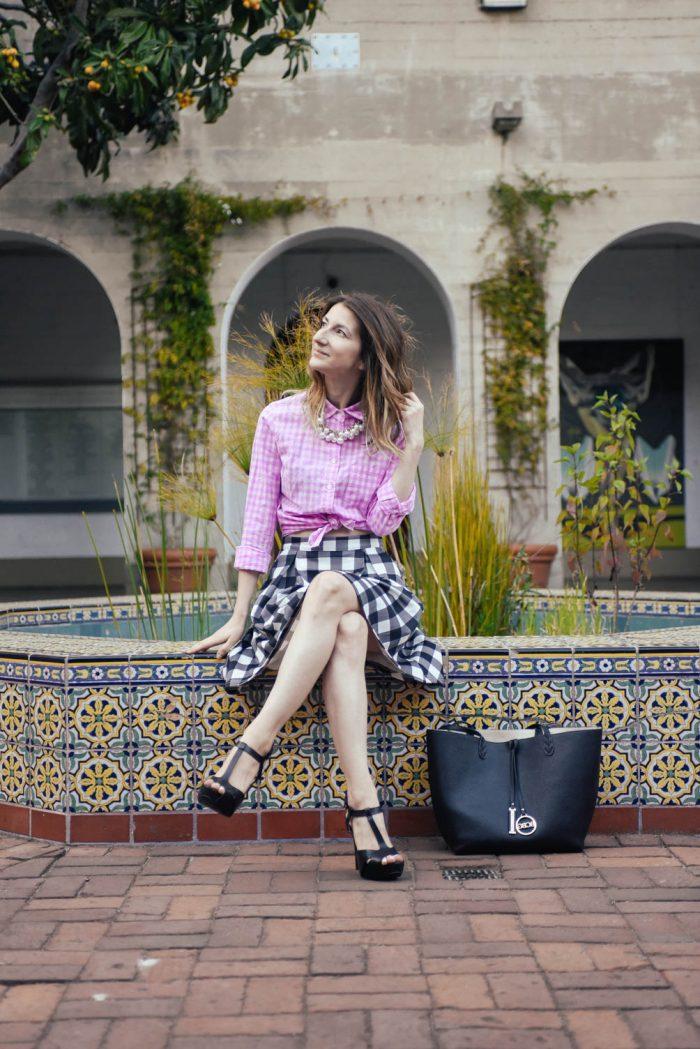 Gingham-Scuba-Skirt-Mix-Pattern-3