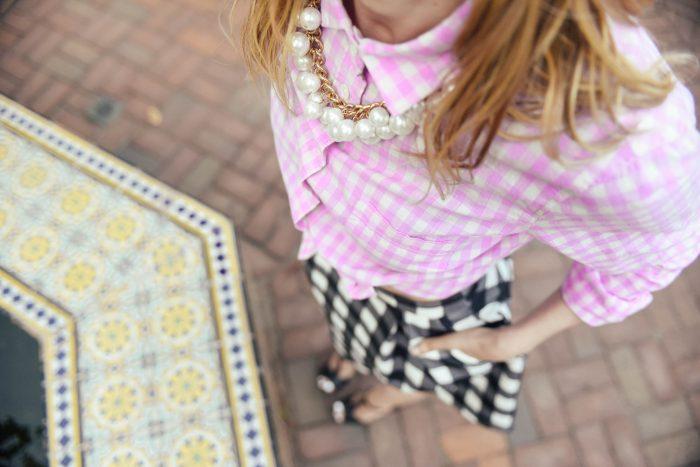 Gingham-Scuba-Skirt-Mix-Pattern-4