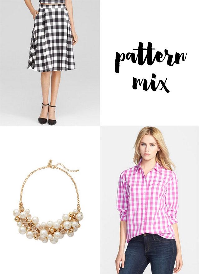 Gingham-Scuba-Skirt-Mix-Pattern-6