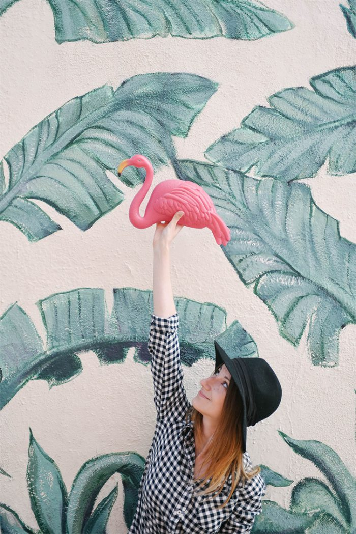 PinkFlamingo-TropicalMuralLA