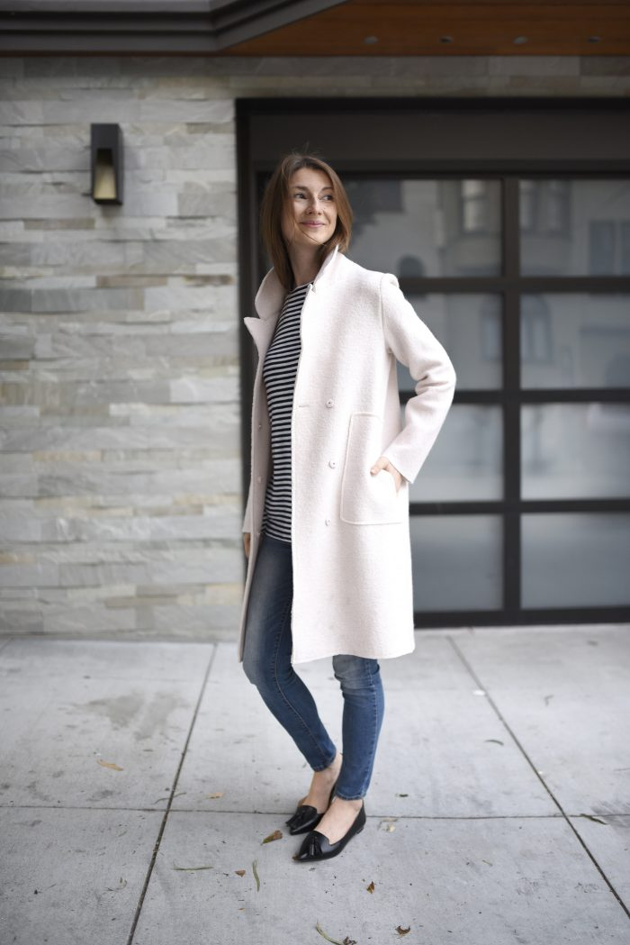 blush-pink-wool-coat-strip-shirt