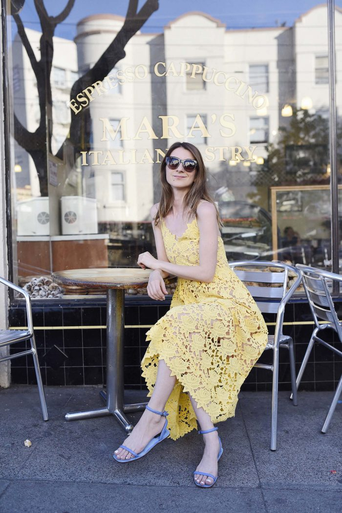 hm-yellow-lace-dress2016-zarasandals