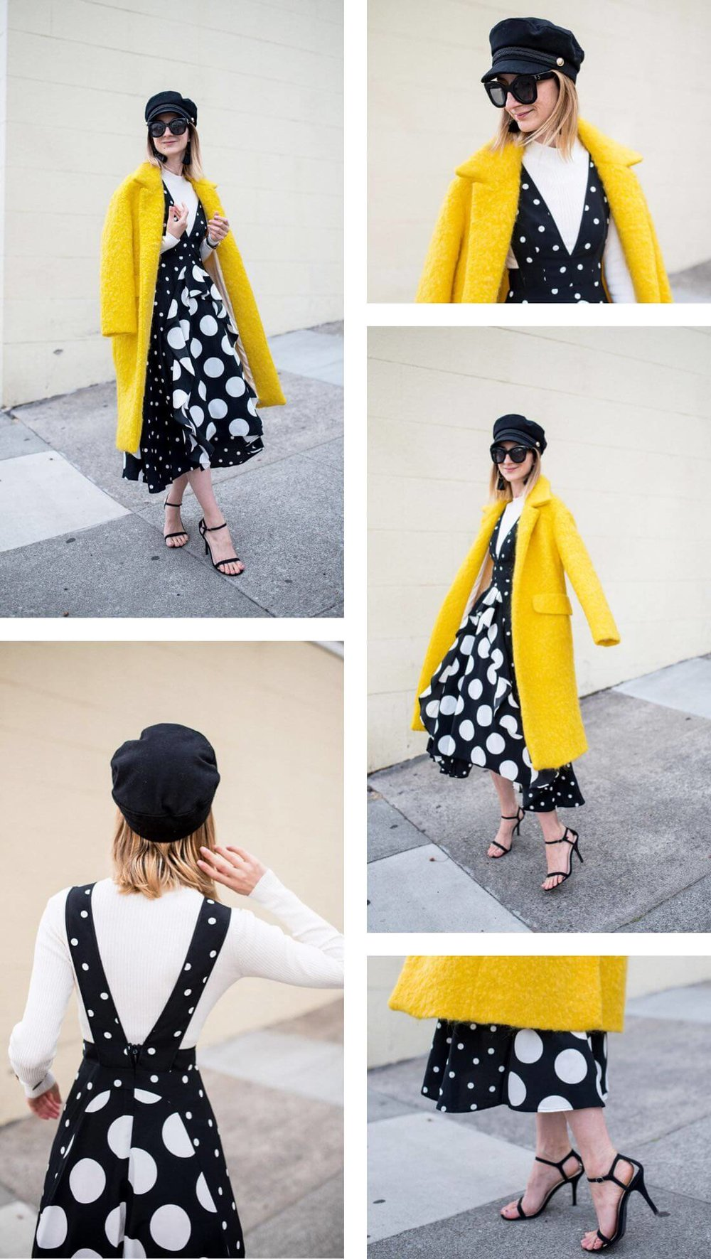 Black-White-Polkadot-Dress-Yellow-WoolCoat.JPG