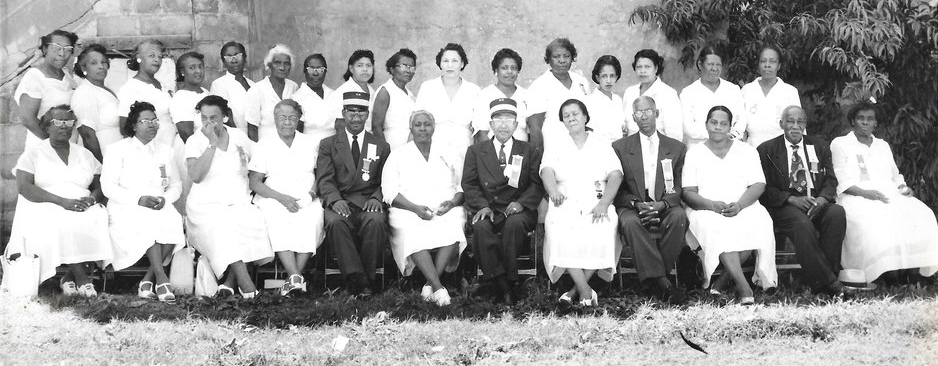 Members of Knights & Daughters of Tabor at an annual conference called it's Grand Session during the 1950s.