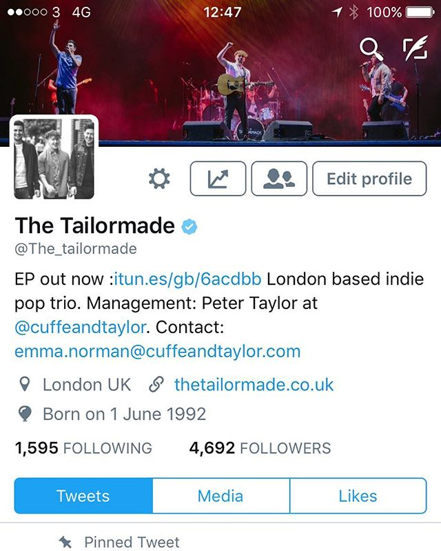 Absolutely buzzing to be verified on Twitter! Make sure to follow us on Spotify for exciting things soon!
