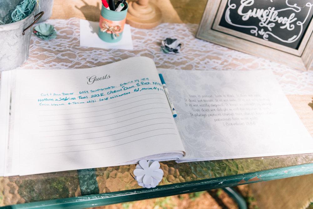 Guest signature book