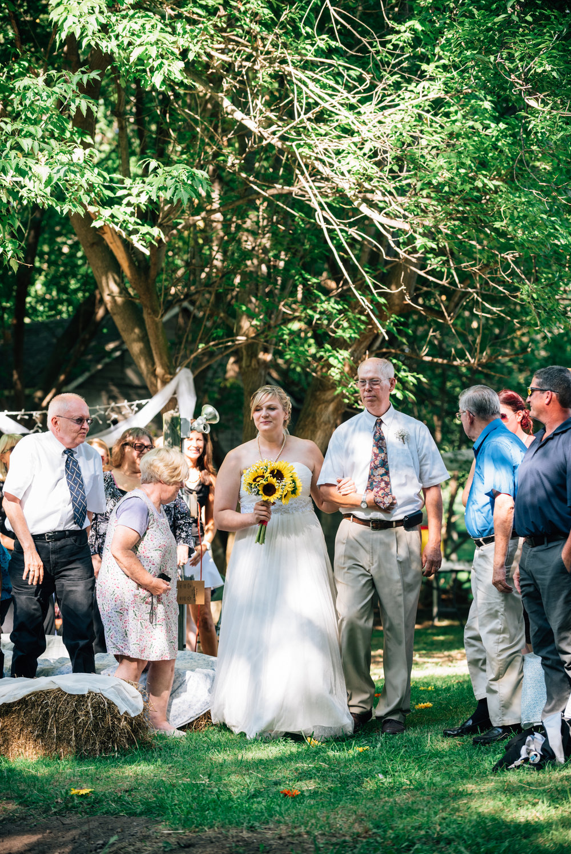 Bride down the isle