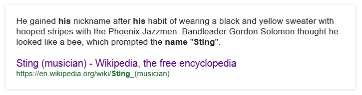 how sting got his name