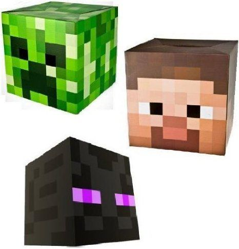 Build your own Minecraft heads Enderman Steve Creeper