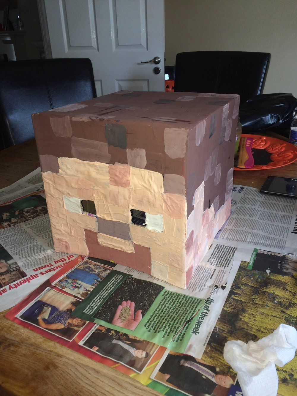 Freshly painted Steve Head