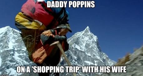Sherpa shopping trip