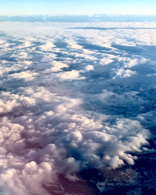 somewhere over utah, aerial view