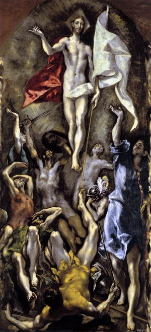 El Greco,  The Resurrection,  c. 1600.