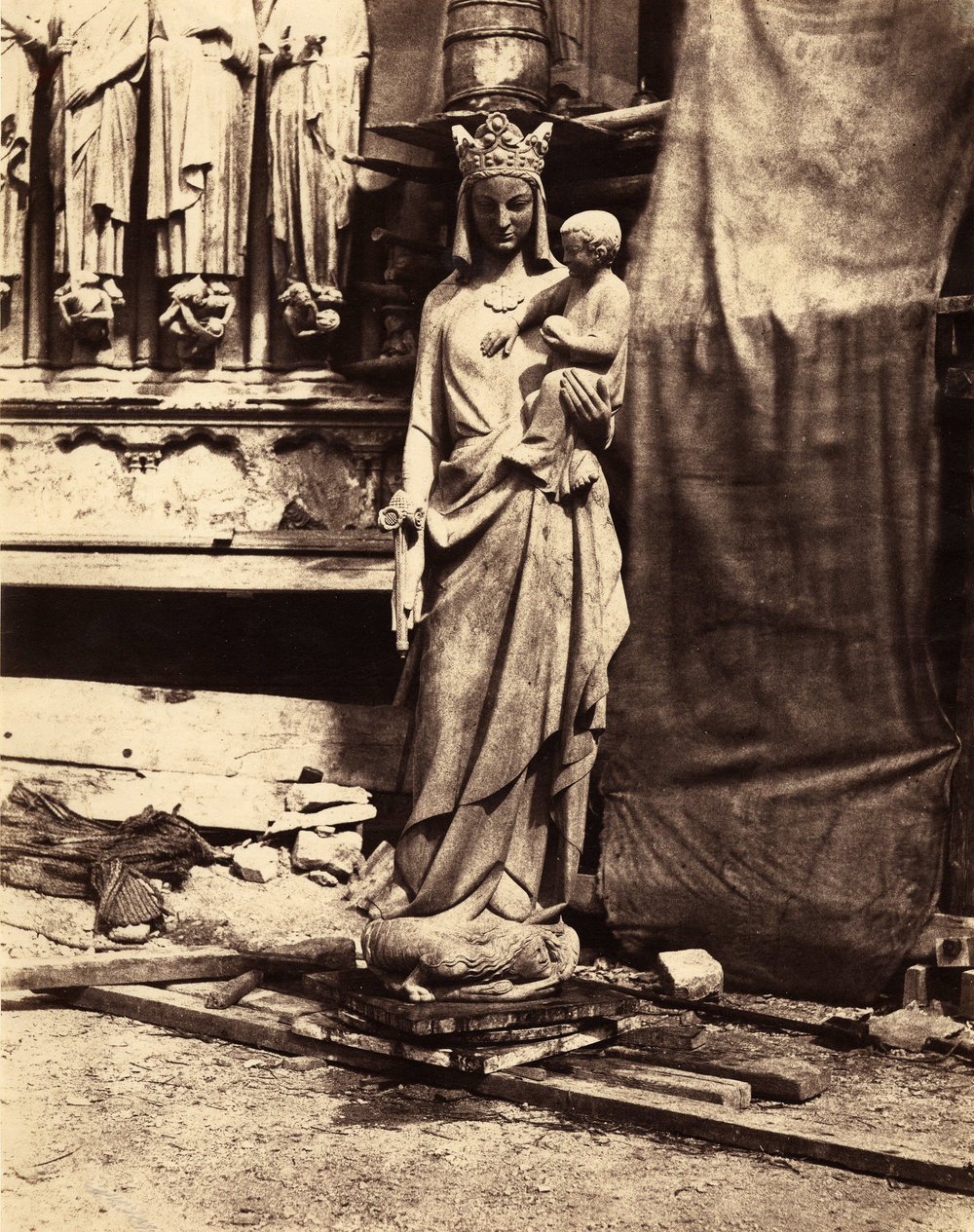 Auguste_Mestral,_Sculpture_of_Virgin_and_Child,_Notre_Dame,_Paris,_ca._1851.jpg