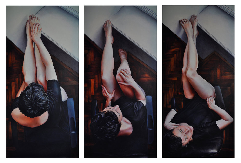Victoria Selbech Gaze crylic on Canvas 54 x 26