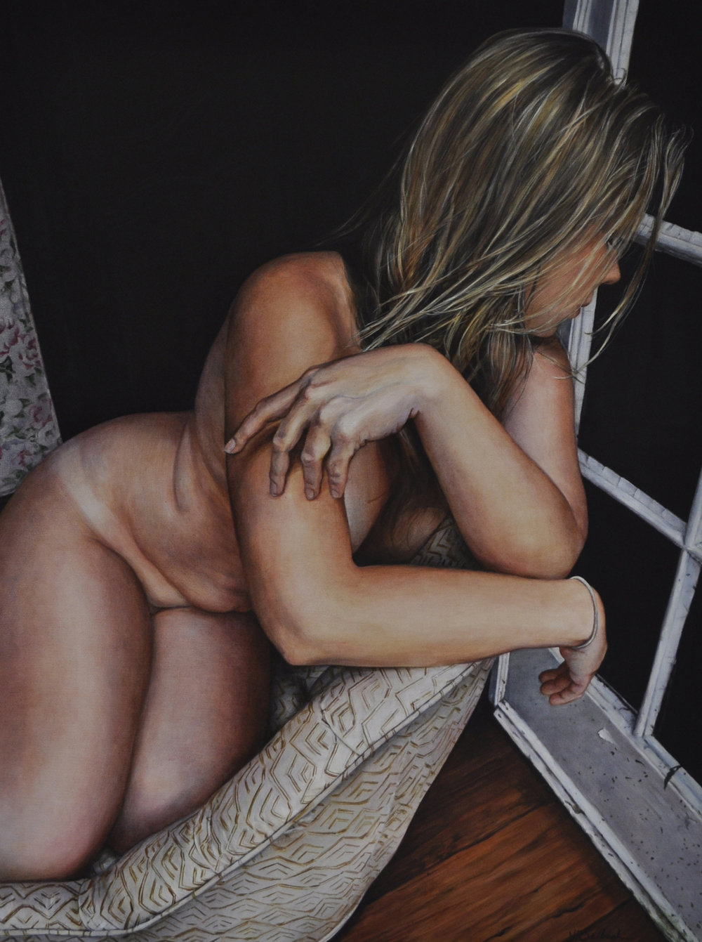 Victoria Selbech Christine at Mille Fleurs crylic on Canvas 40 x 30