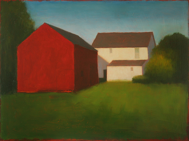 "The New Painters Farm  18 x 24"" Oil on Wood Panel 2015"