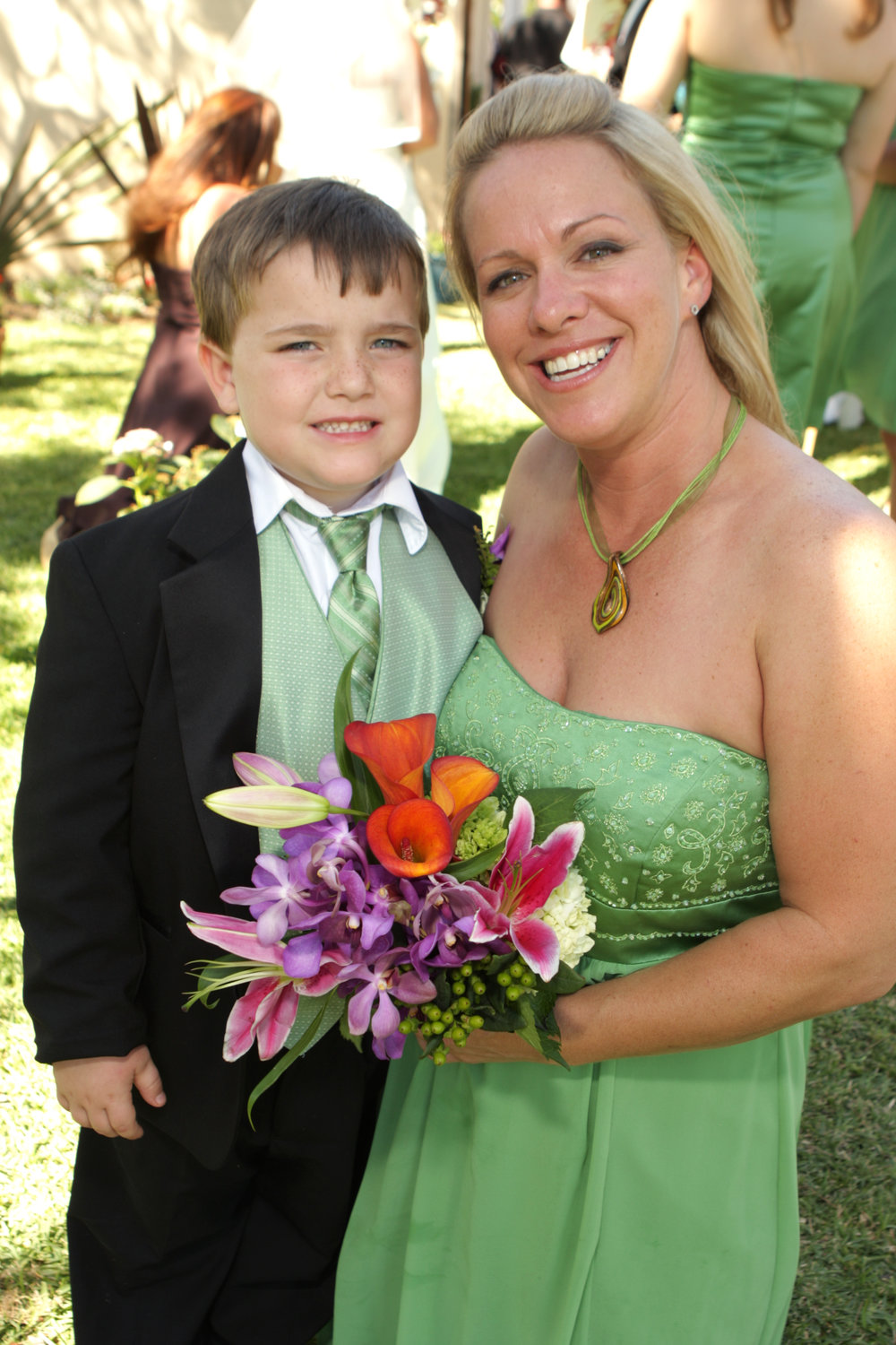 Ringbearer and bridesmaid florals