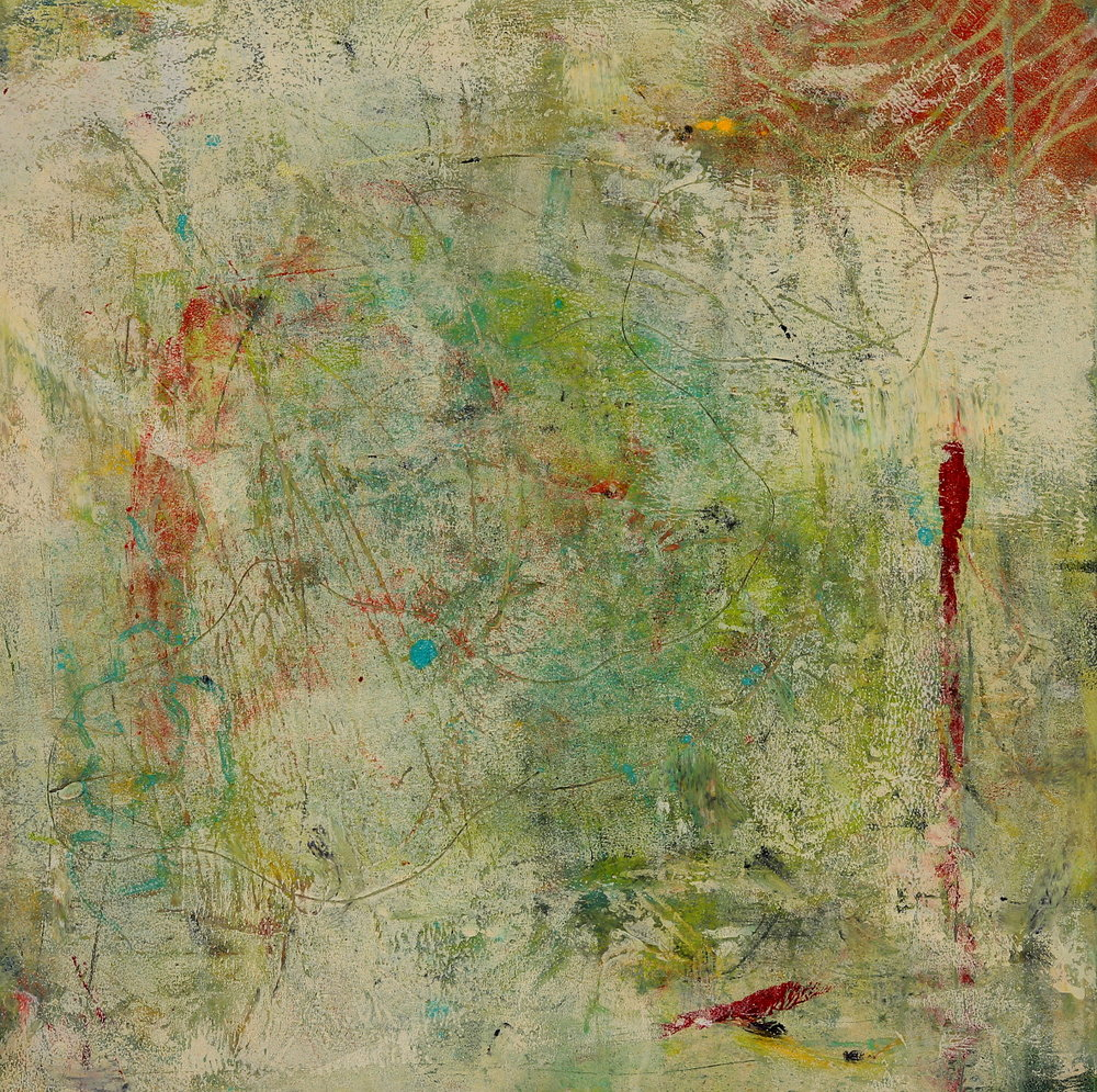 Patina, 2015, oil, wax, mixed media on panel, 12 x 12""