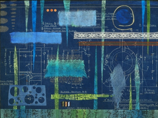 "Dance of the Stalagmites, collage, 12 x 16"" Original price $350; now $125"