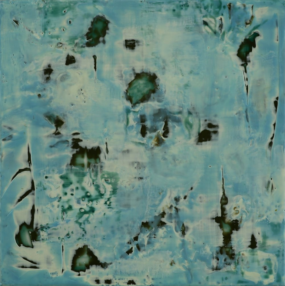 "Winter II, encaustic,12 x 12"" Original price $500; now $175"