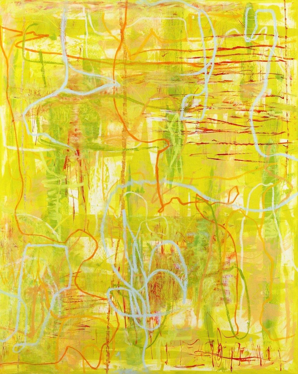 "Entanglements #19, 2017, oil, wax, mixed media on panel 60 x 48"""