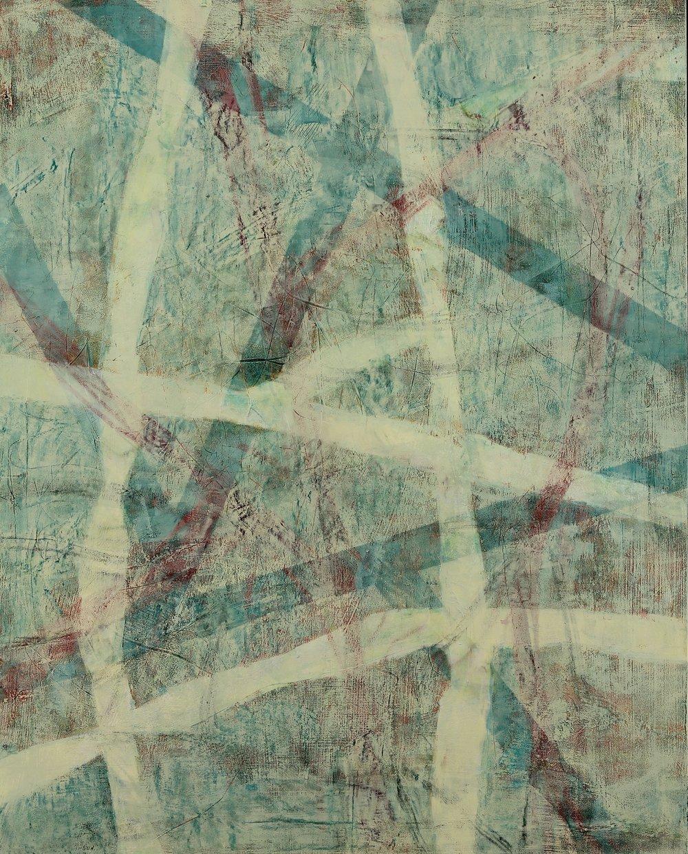 "Prospect #9, 2017, oil, wax, mixed media on panel, 30 x 24"""
