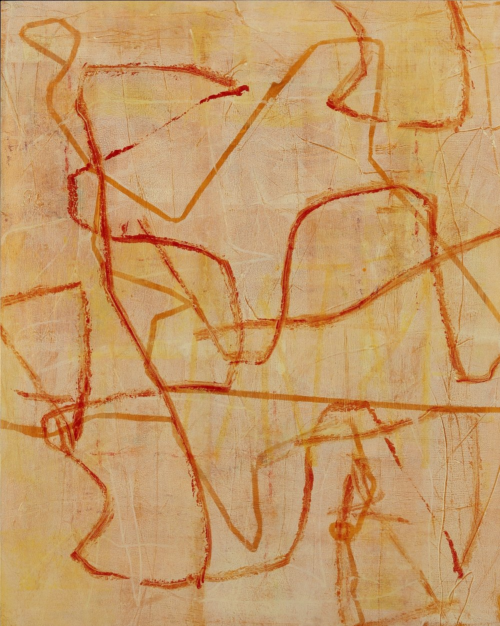 Entanglements #11, 2016, oil, wax, mixed media on panel, 30 x 24""