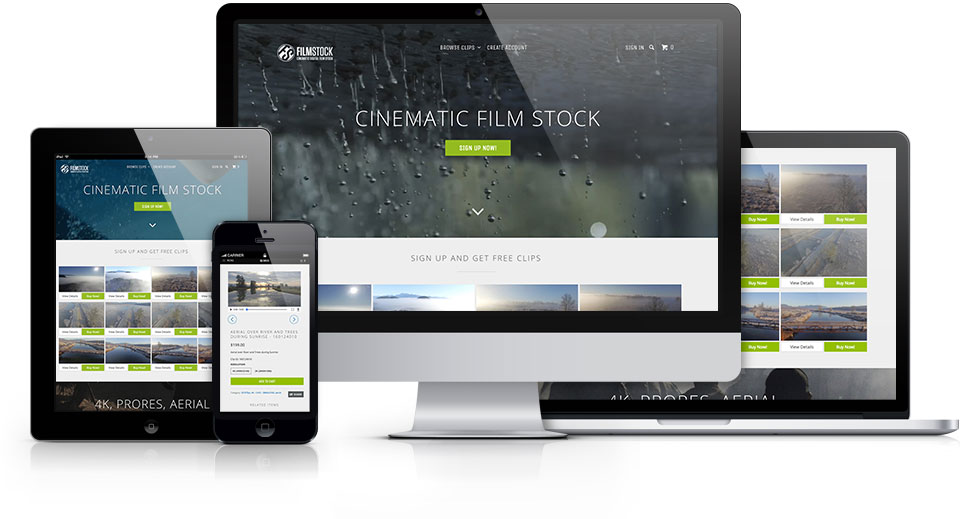 FilmStock.ca produces cinematic digital film stock. Research, Wireframe, Prototype, Interaction Design, Visual Design and Front-End Development using Boostrap, jQuery, HTML5 and CSS3.