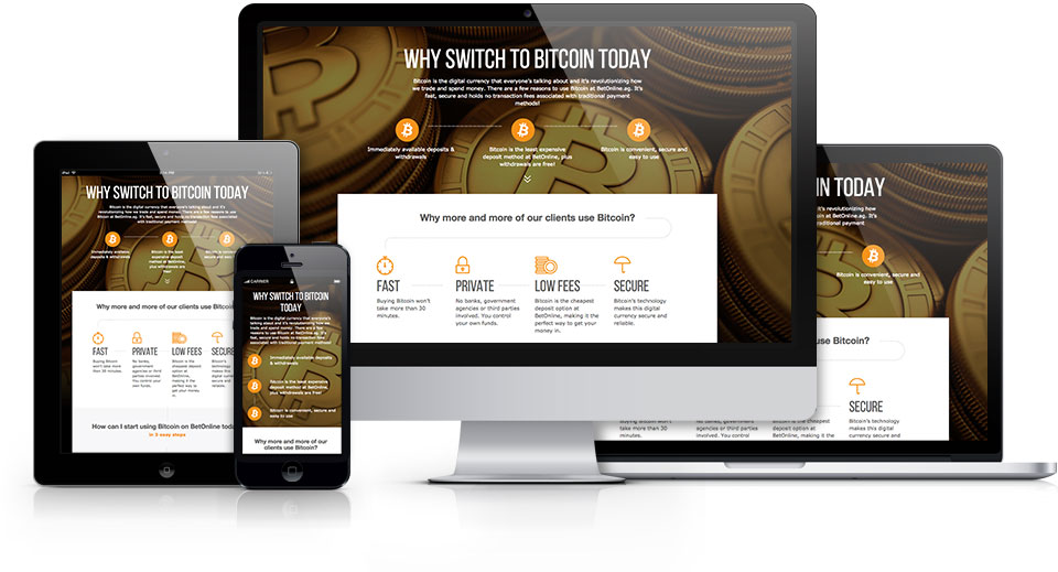 Bitcoin Info     is a responsive landing page to help users learn more about using Bitcoin and where they can purchase and exchange the popular cryptocurrency.