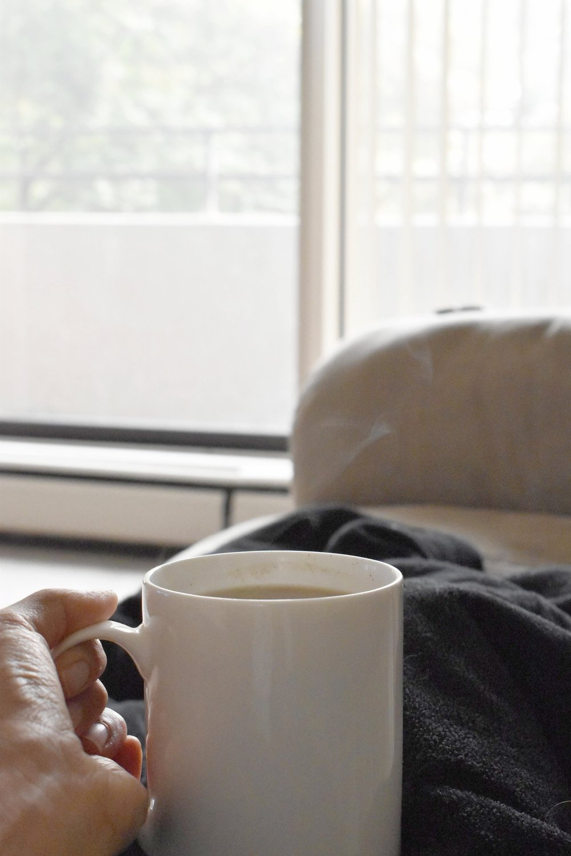 Nettle Cardamom Latte cozy