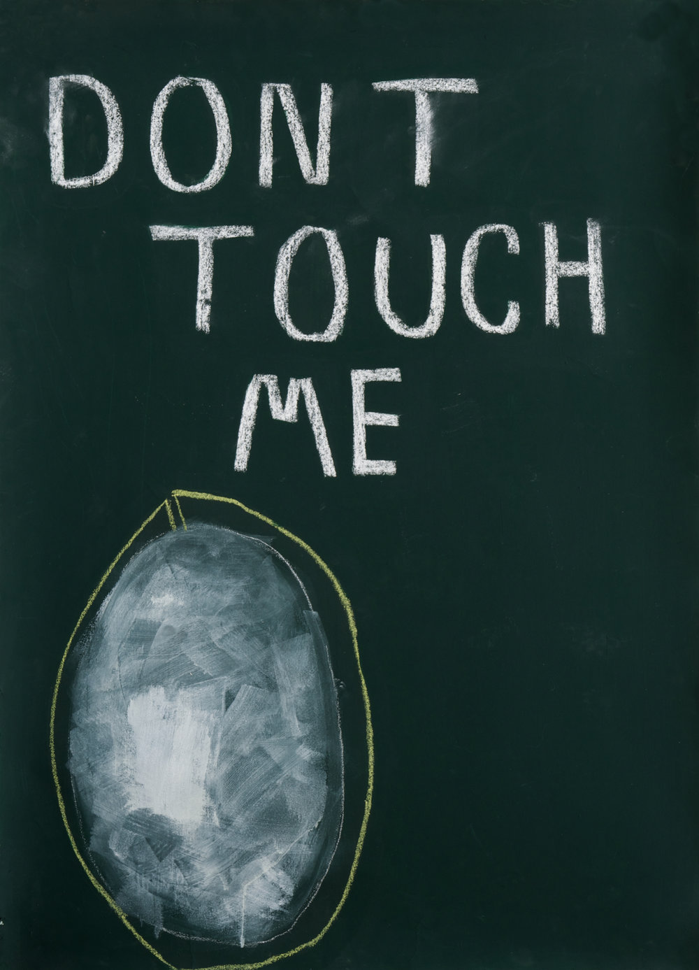 DONT TOUCH ME, industrial color, chalk, pastel,  and acrylic on paper, 94x75cm, 2014