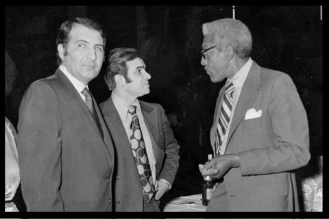 Hussein with Bayard Rustin, Advisor to MLK