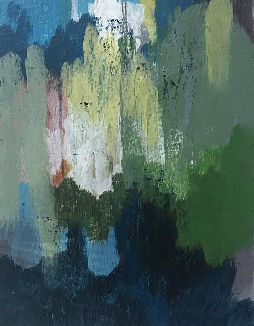 Unseen Light, Acrylic on Paper, 2017