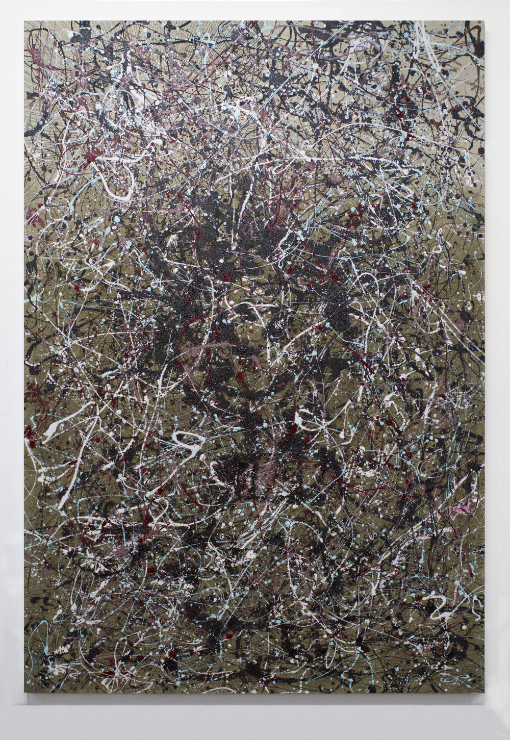 PigPen 2018 Dust and enamel on linen 70 x 48 inches