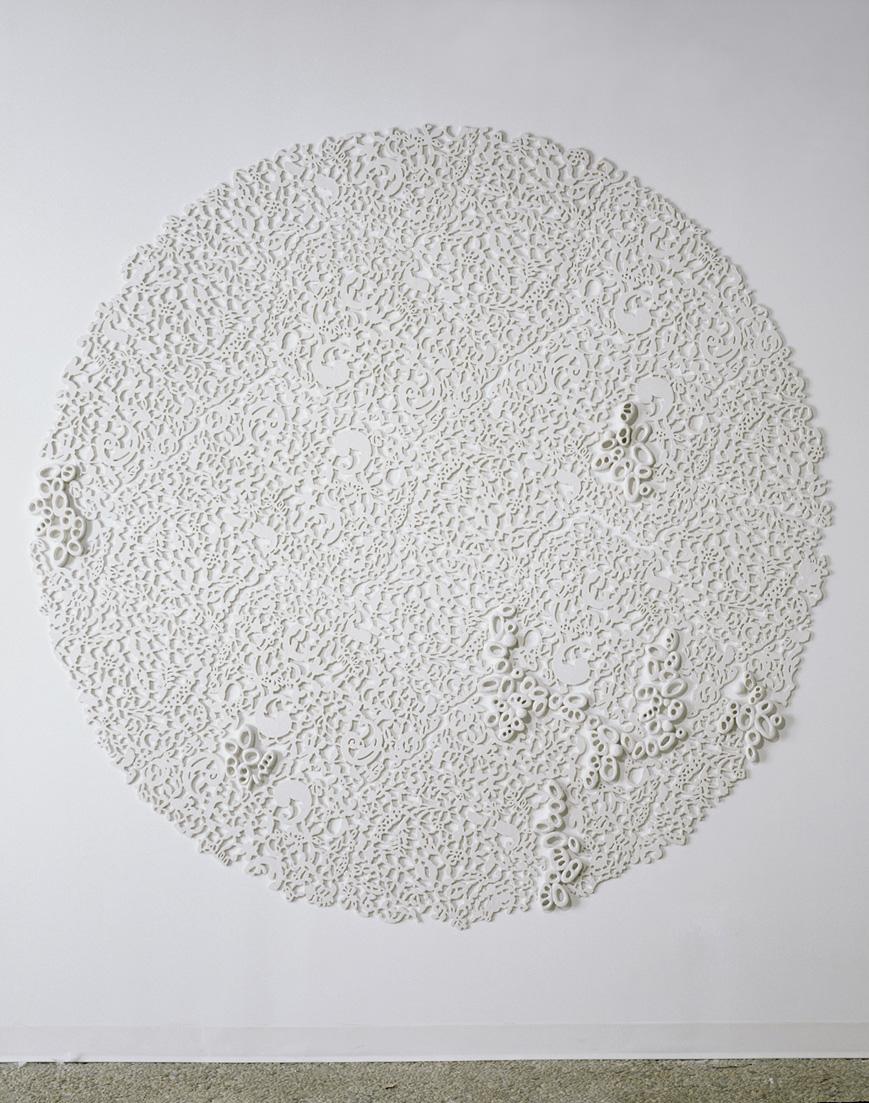"""Tondo II, 2006.  Cast Resin, 84"""" diameter"""