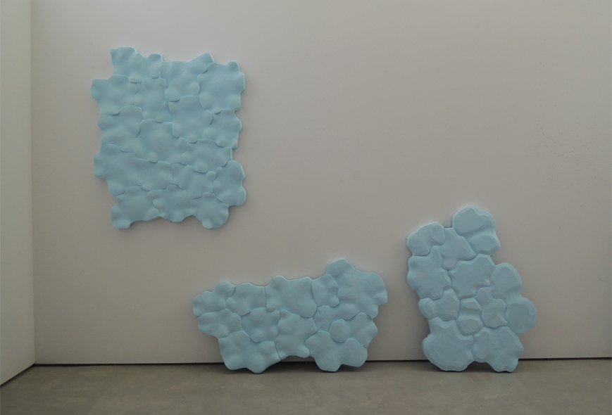 Body of water, your body, 2013.   Styrofoam, installation view