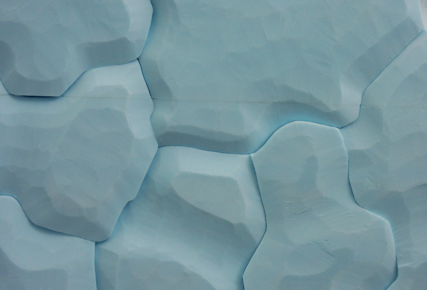 Body of water, your body #3, 2013. Styrofoam, detail