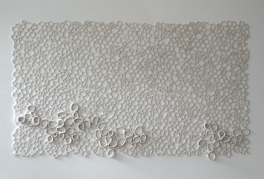 "Relief XIX, 2011.   Cast Resin, 51""h x 89""w x 3""d"