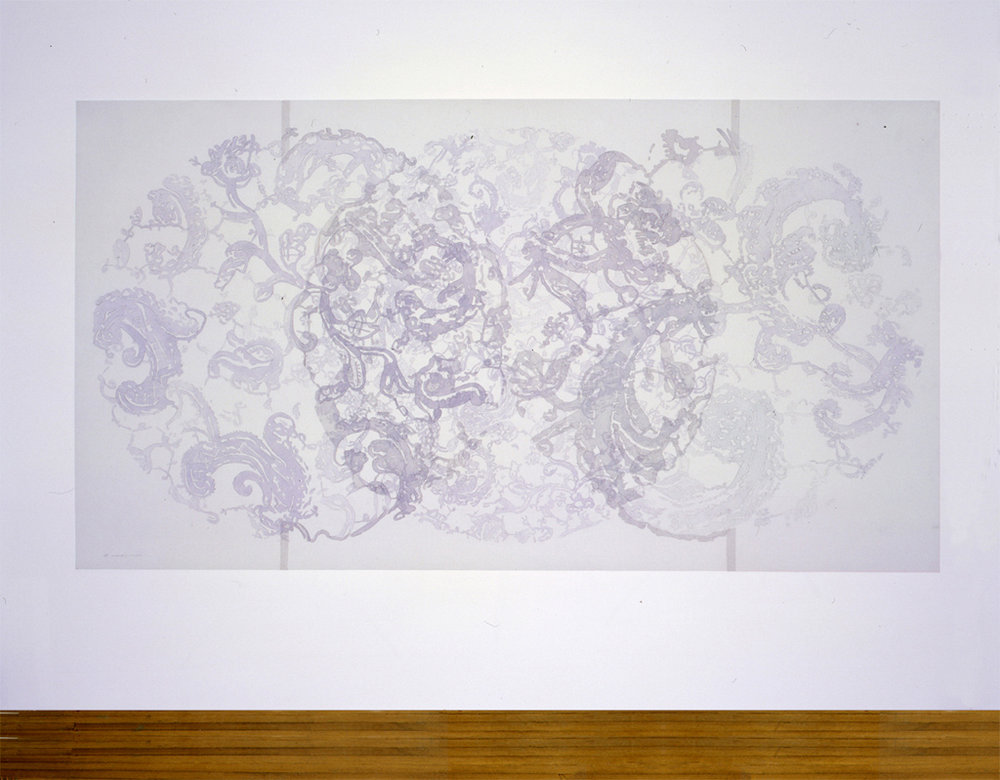 "Evanescence II, 1998-1999.   Pencil on velum, 46""h x 80""w."