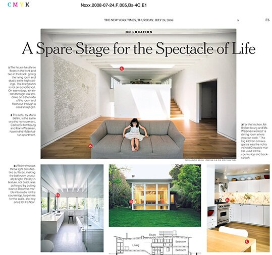 a spare stage for the spectacle of life by fred a bernstein new york times on location thursday july 24 2008 - New York Times Home And Garden