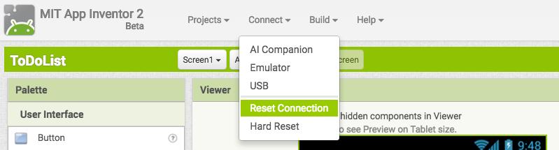 app inventor 2 change emulator