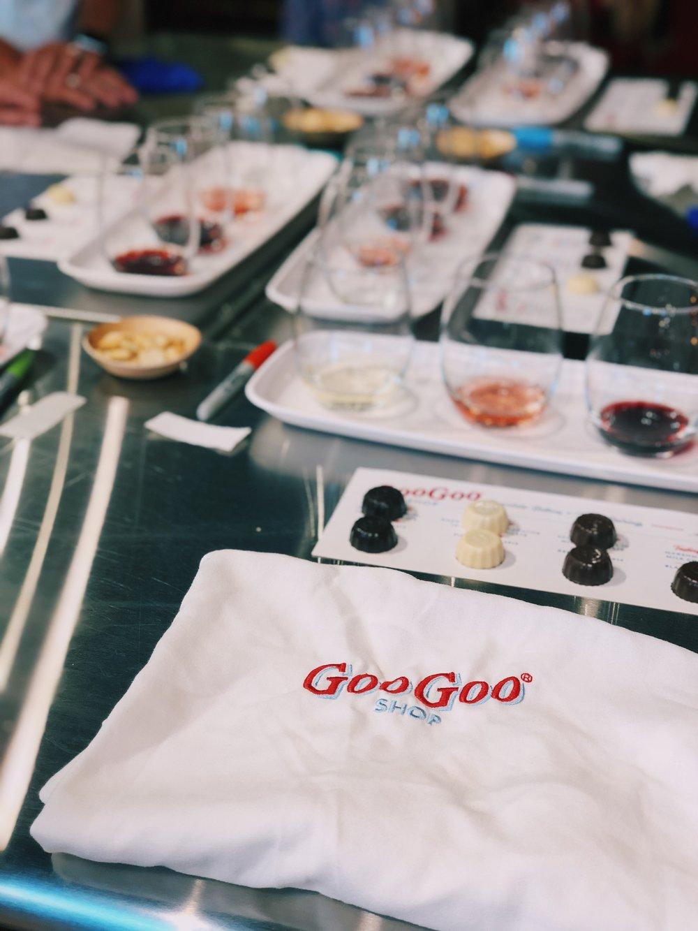Goo Goo Chocolate Wine Pairing Class