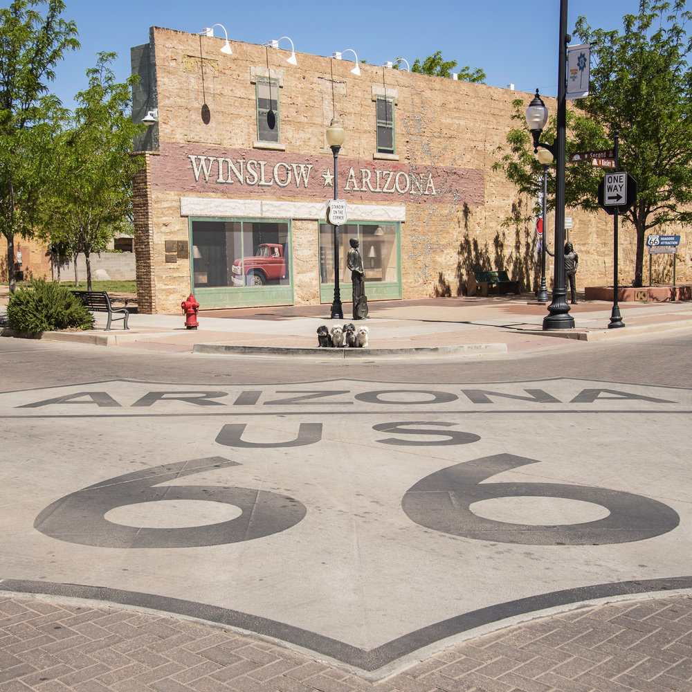 Can you see us? We're Standing On The Corner In Winslow Arizona!!
