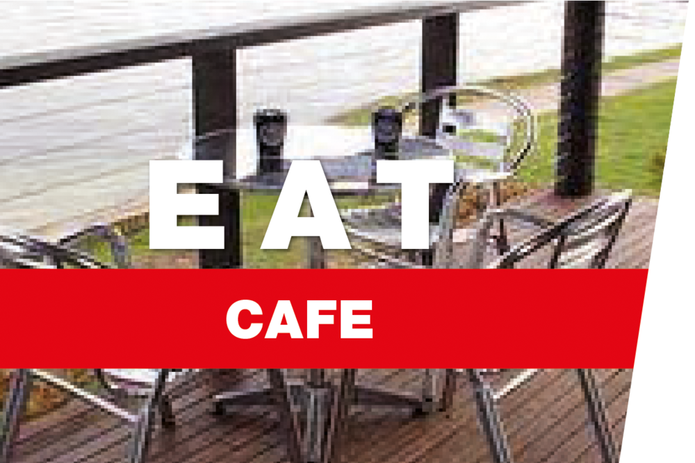 Relax while enjoying a meal & refreshment on our verandah overlooking the lakes & Blue Mountains.