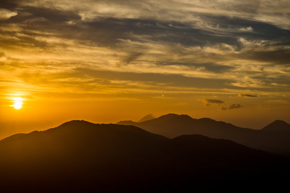 Sunrise at the Summit of Volcan Santa Clara
