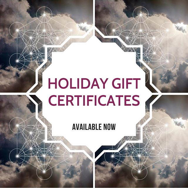 We have gift certificates! THE perfect gift for your holiday needs....either self-care or gift!!! #getemnow #holidays #blackfridayearly #metatron #illume #illumepgh #illumepittsburgh