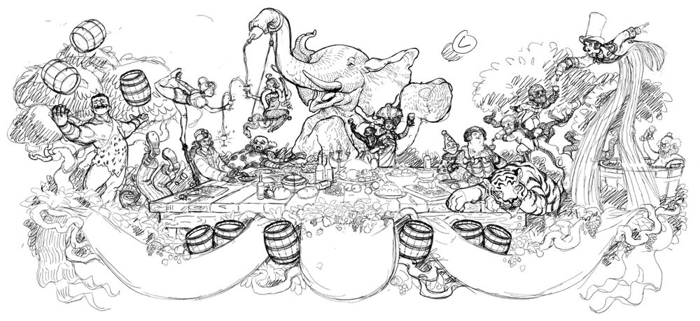 Circus at Dinner final sketch
