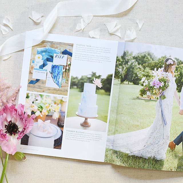 Taking time today to celebrate this gorgeous spring inspired shoot featured in the current issue of @fluttermag. A year ago I would have never dreamed that I would be a part of such an amazing team of creatives (tagged in photo). Always celebrate the wins, little or big. 💕🌸| #cottonandcrumb #springtime #weddingwelcomegifts #welcomegifts #bride #groom #ido #weddinginspo #miamiwedding #springwedding #flashesofdelight #thatsdarling #darlingweekend #pursuepretty #fluttermag #myheartsaflutter